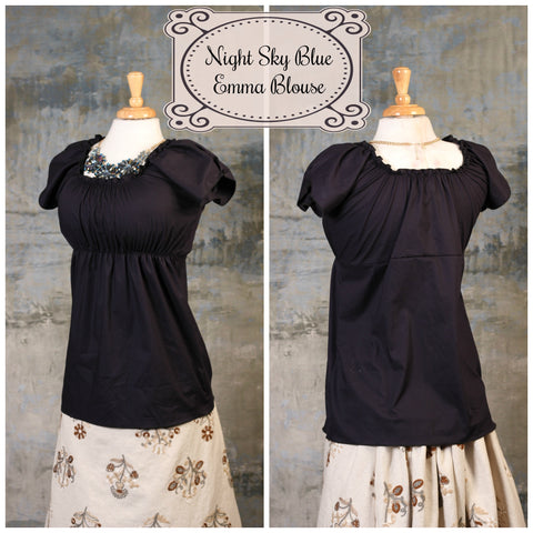 Night Sky Blue Emma Blouse - RA1