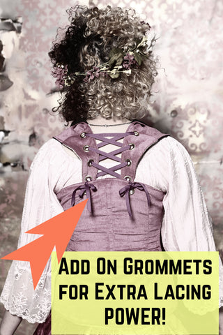 Add Lace Up Grommets on Back of Voyager Straps (Voyager and Over-Archer Corsets only!)