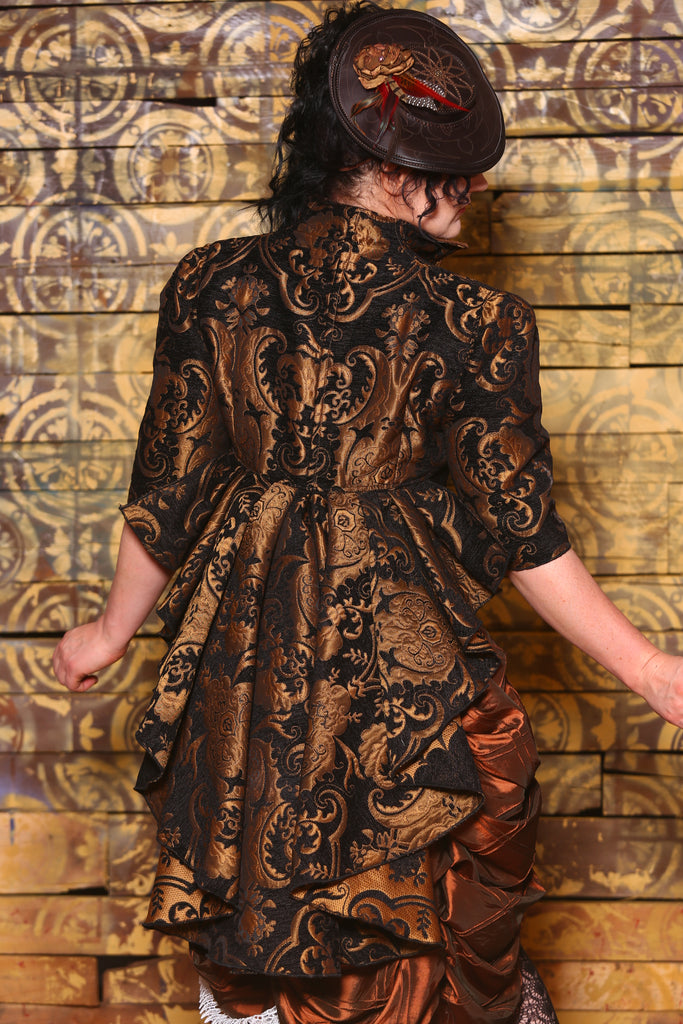 Arleen Jacket in Black and Gold Medallion