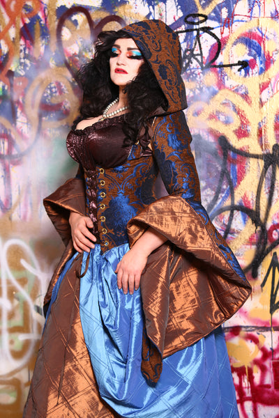 Detachable Arwen Sleeves in Cerulean Penny