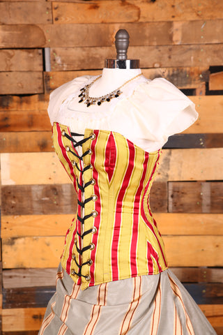 Aurora Corset-Animal Cracker Stripe