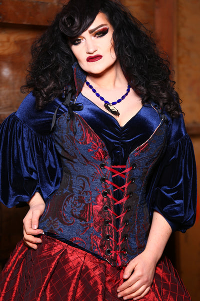 Courtier Corset in Spiderman Medallion