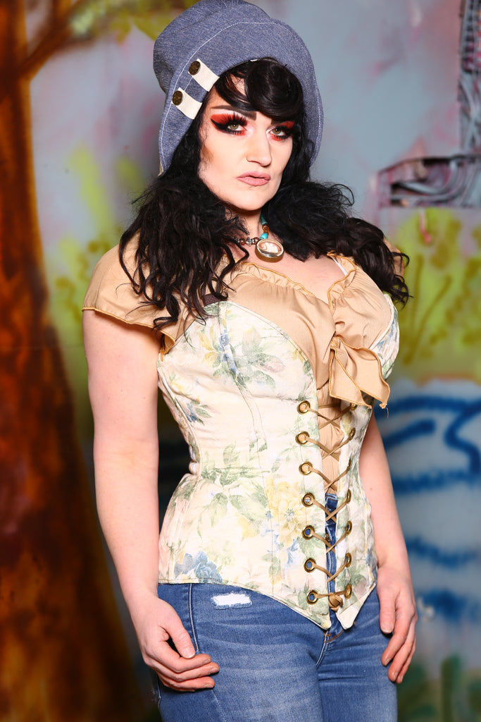 Crossfire Corset in Little House on the Prairie Floral