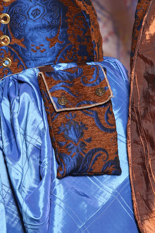 Single set of Utility Pockets in Cerulean Penny