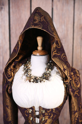 Purple and Gold Medallion Hood