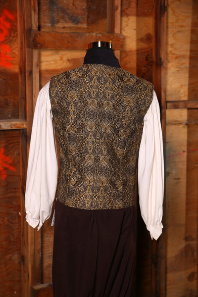 Men's Flynn Vest in Black Snakeskin