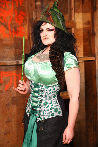 $50 BIN SALE! Normal Price $139-Wench Corset in Team Slytherin