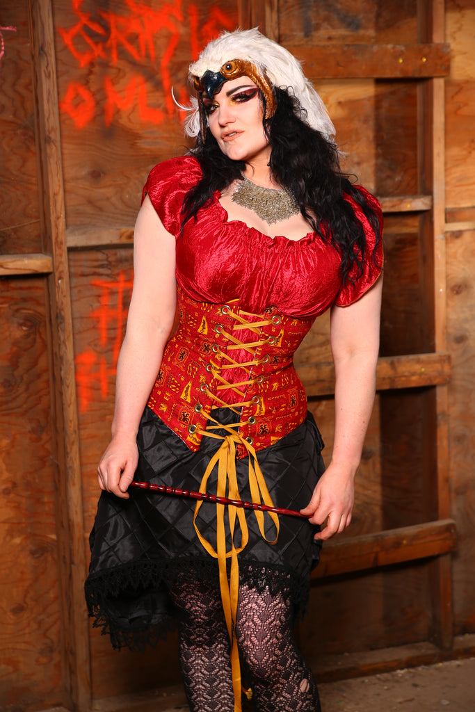 $50 bin sale! -Normally $139-Wench Corset in Team Gryffindor