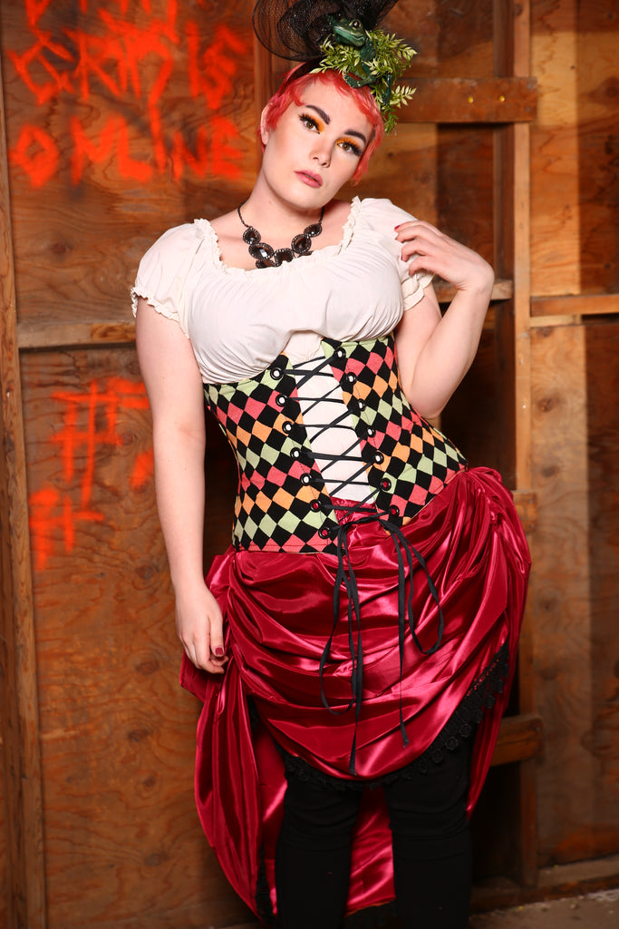Wench Corset in Honeydukes Checkerboard