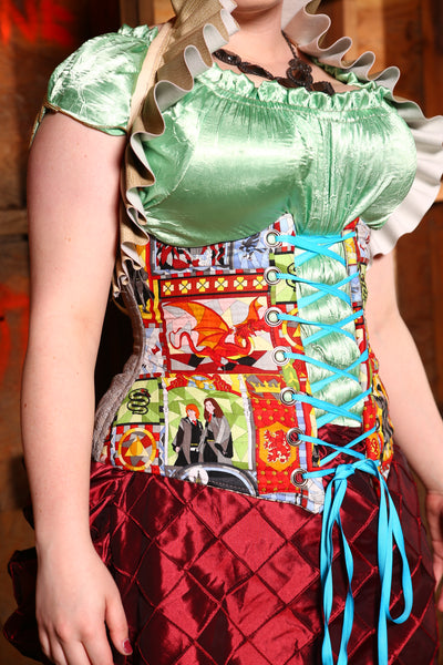 $50 BIN SALE!-Normally $139-Wench Corset in Stained Glass