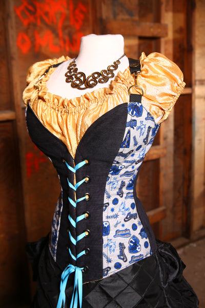 Crossfire Corset in Team Ravenclaw