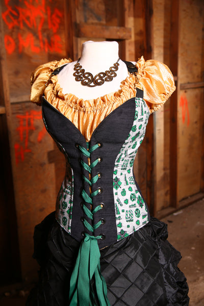 LAST ONE! Crossfire Corset in Team Slytherin