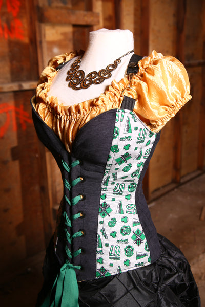Crossfire Corset in Team Slytherin