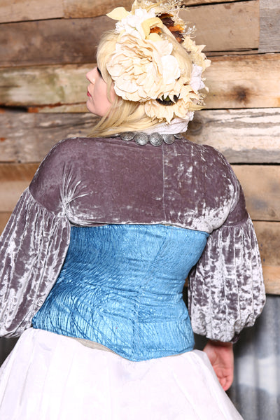 Wench Corset in Blue Tendrils