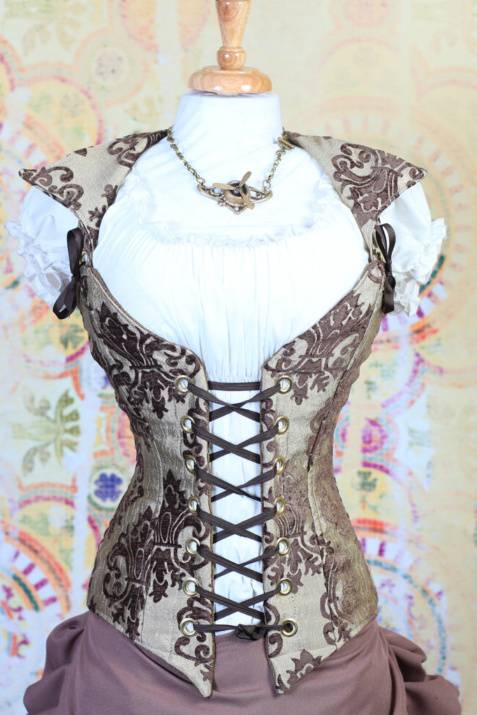 Brown and Cream Grace Duchess Corset
