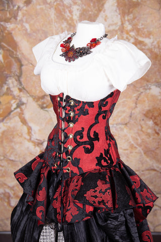 Wench Corset Red & Black Grace - NF