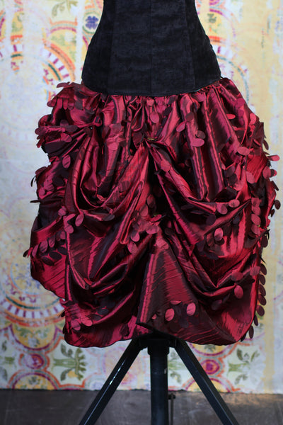 Red Leaves Mini Bustle Skirt
