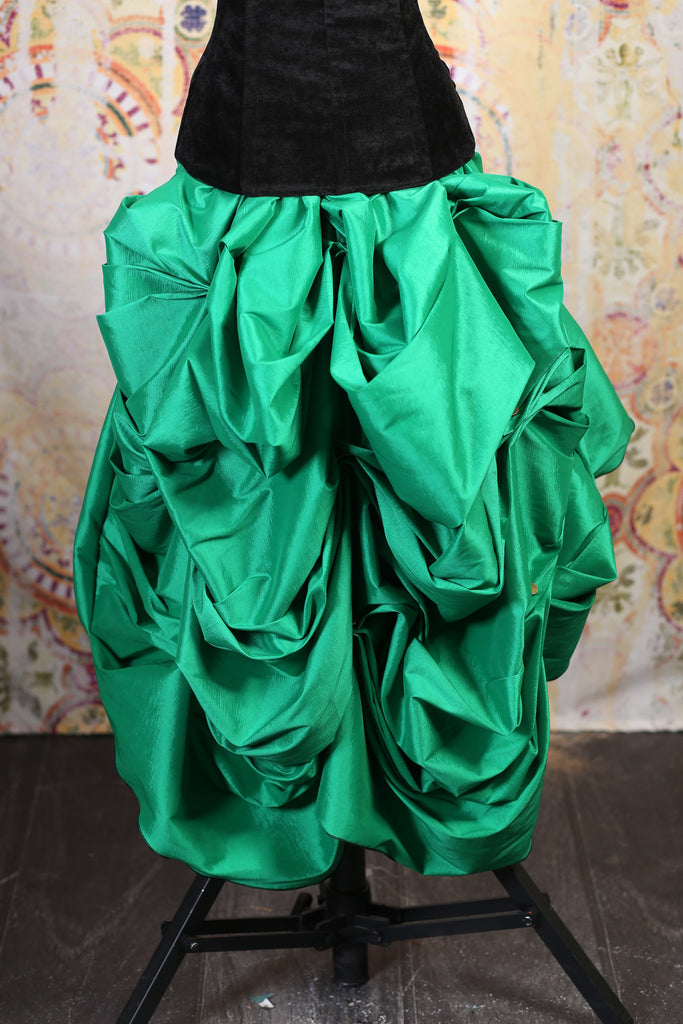 Super Hero Green Knee Length Bustle Skirt