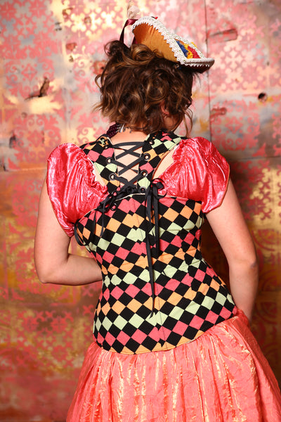$100 BIN! (Normally $179) Voyager Corset in Honeydukes Checker