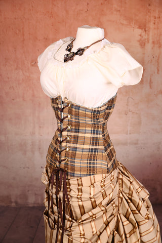 Wench Corset Rad Plaid - RE2
