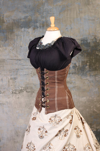 Gingerbread Plaid Torian Corset