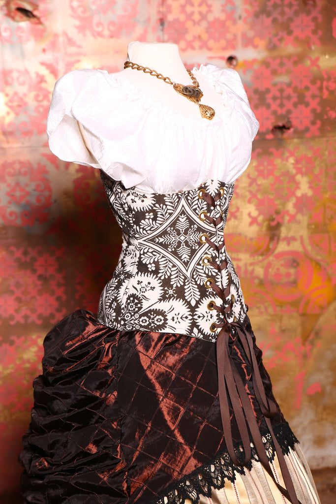 Wench Corset in Cadbury Folk Art Floral