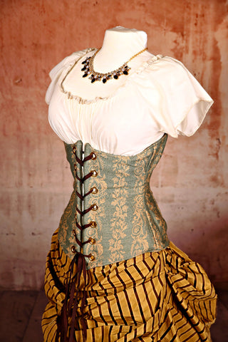 Wench Corset in Fernwood Teal