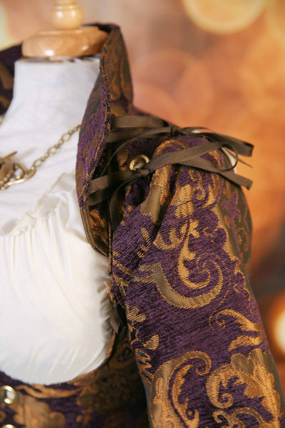 Gold and Purple Medallion Buccaneer Sleeves