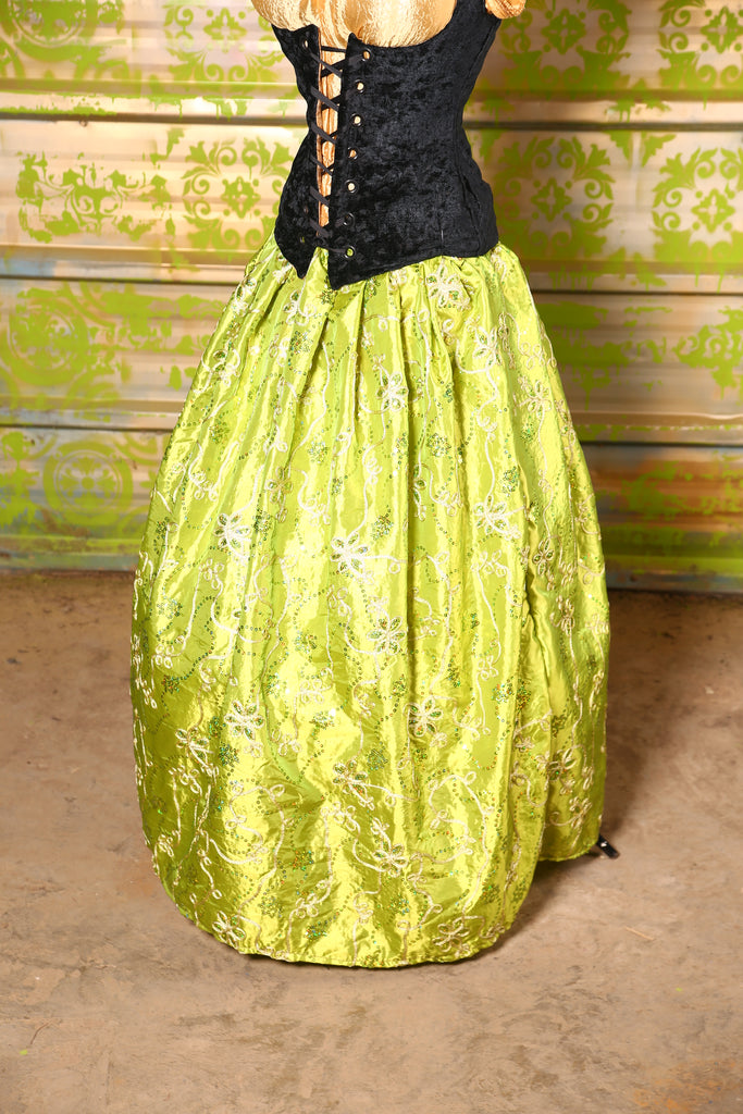 $75 BIN SALE!-Tulip Skirt in Chartreuse Sequin Glamour