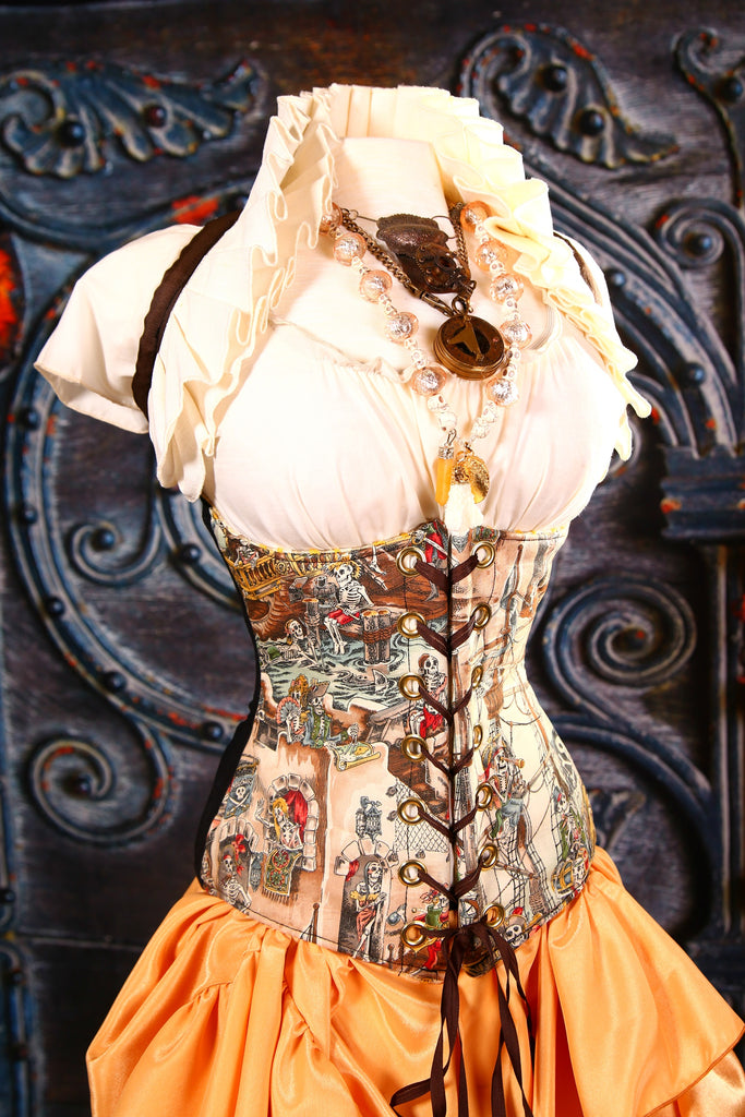 Wench Corset with Limited Edition Skelewags Front Panel
