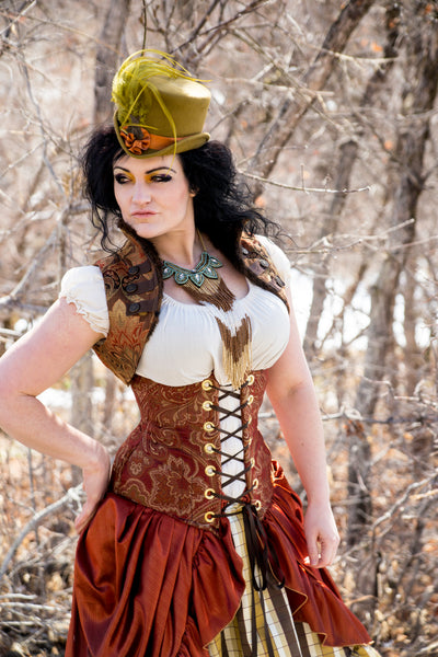 Rust Paisley Wench & Torian Corsets - RB3