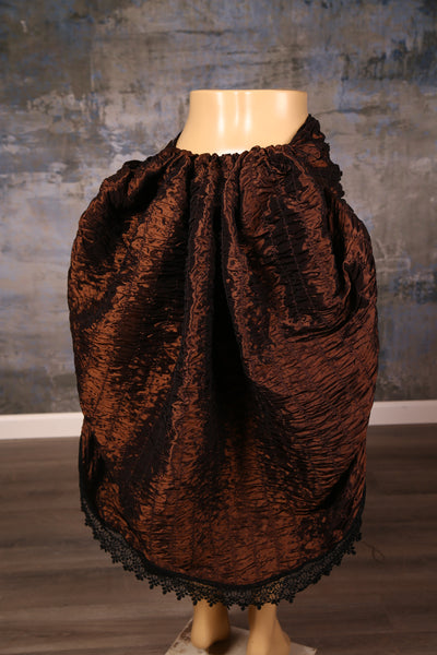 Mini Swoon Skirt in Copper Crinkle