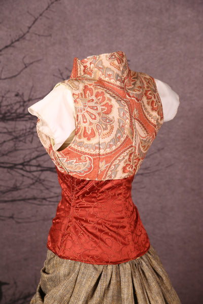 Sgt. Pepper Vest in Apricot Damask Paisley