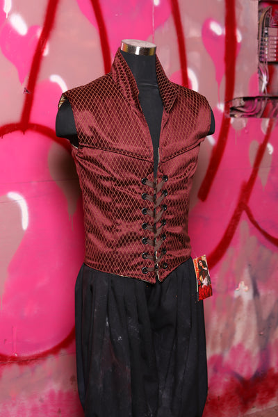 Men's Flynn Vest in Brick Diamond