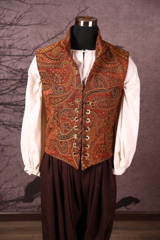 Men's Flynn Vest in Pumpkin Spice Paisley