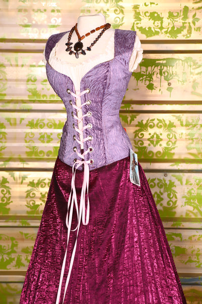 Damsel Corset in Lilac Tendrils-Perfect for Rapunzel!