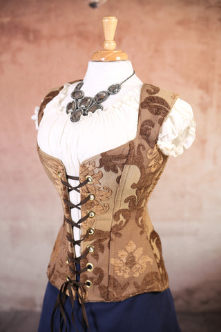 Butterscotch Medallion Damsel Corset