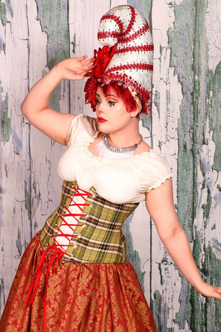 Wench Corset in Doublemint Plaid