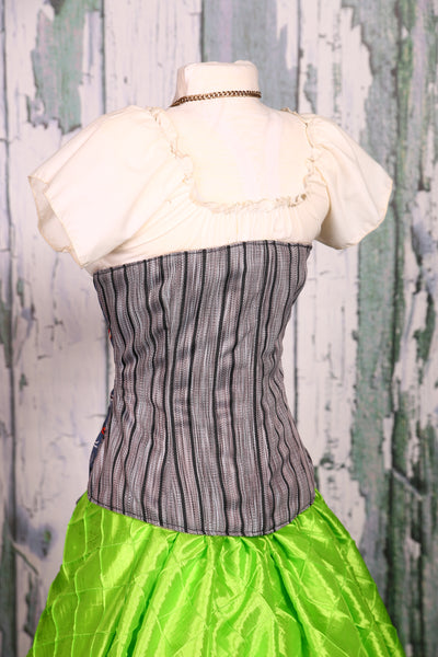 Wench Corset in Graveyard Nightmare and Stripe
