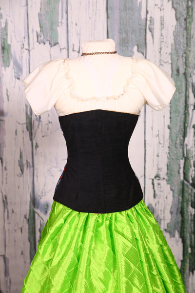 Wench Corset in Graveyard Nightmare and Solid Black