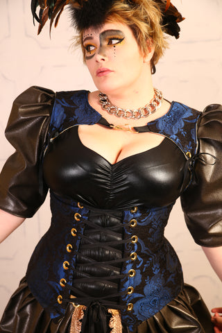Blue and Black Medallion Freya Corset - RI2