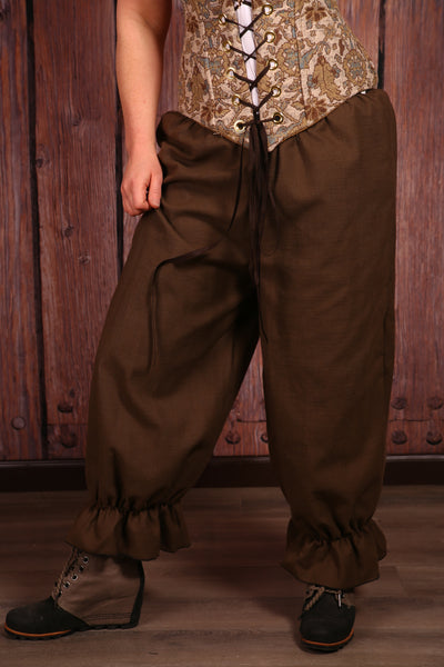 Pantaloons in Brown Lightweight Cotton Canvas