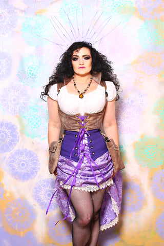 Swoon Skirt in Lilac Sequin Glamour