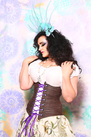 Wench Corset in Rustic Tweed