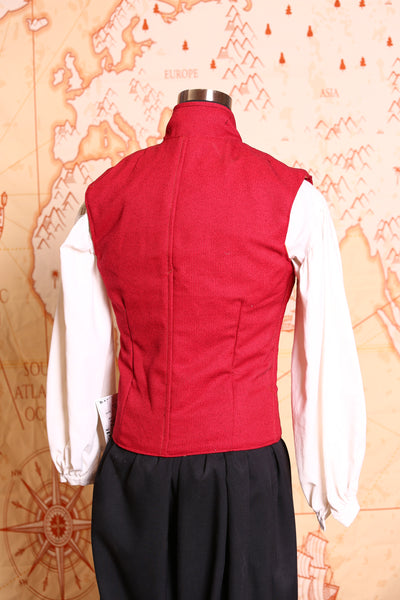 Men's Flynn Vest in Rouge Red