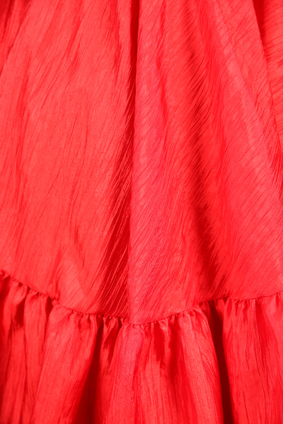 Salsa Skirt in Scarlet Crushed Taffeta