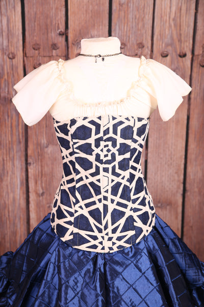 Aurora Corset in Midnight Kaleidoscope