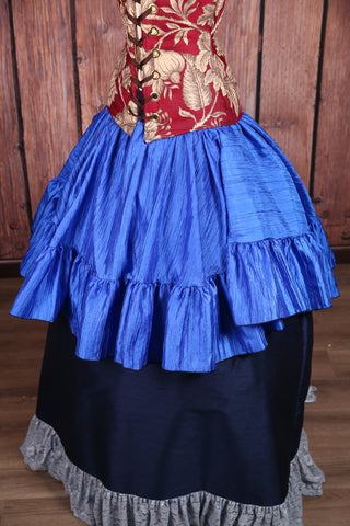 Salsa Skirt in Royal Blue Crushed Taffeta