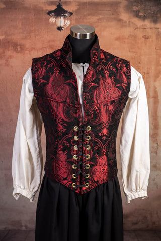 Red & Black Medallion Men's Flynn Vest - RD2
