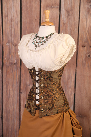 Sage and Gold Medallion Torian Corset